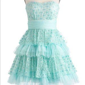 Seafoam and be seen dress